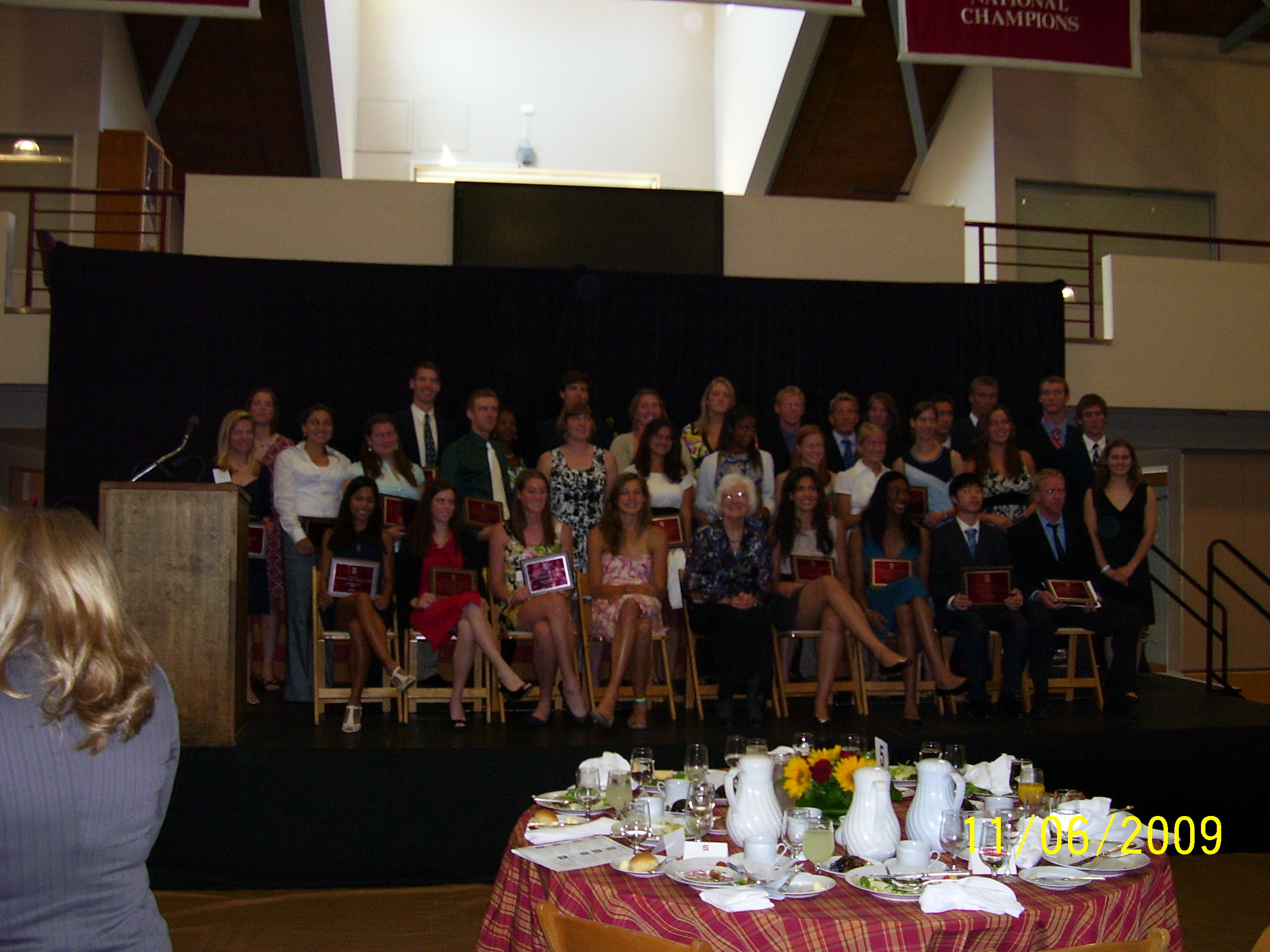 All the award winners (I'm the second one from the right in the front)