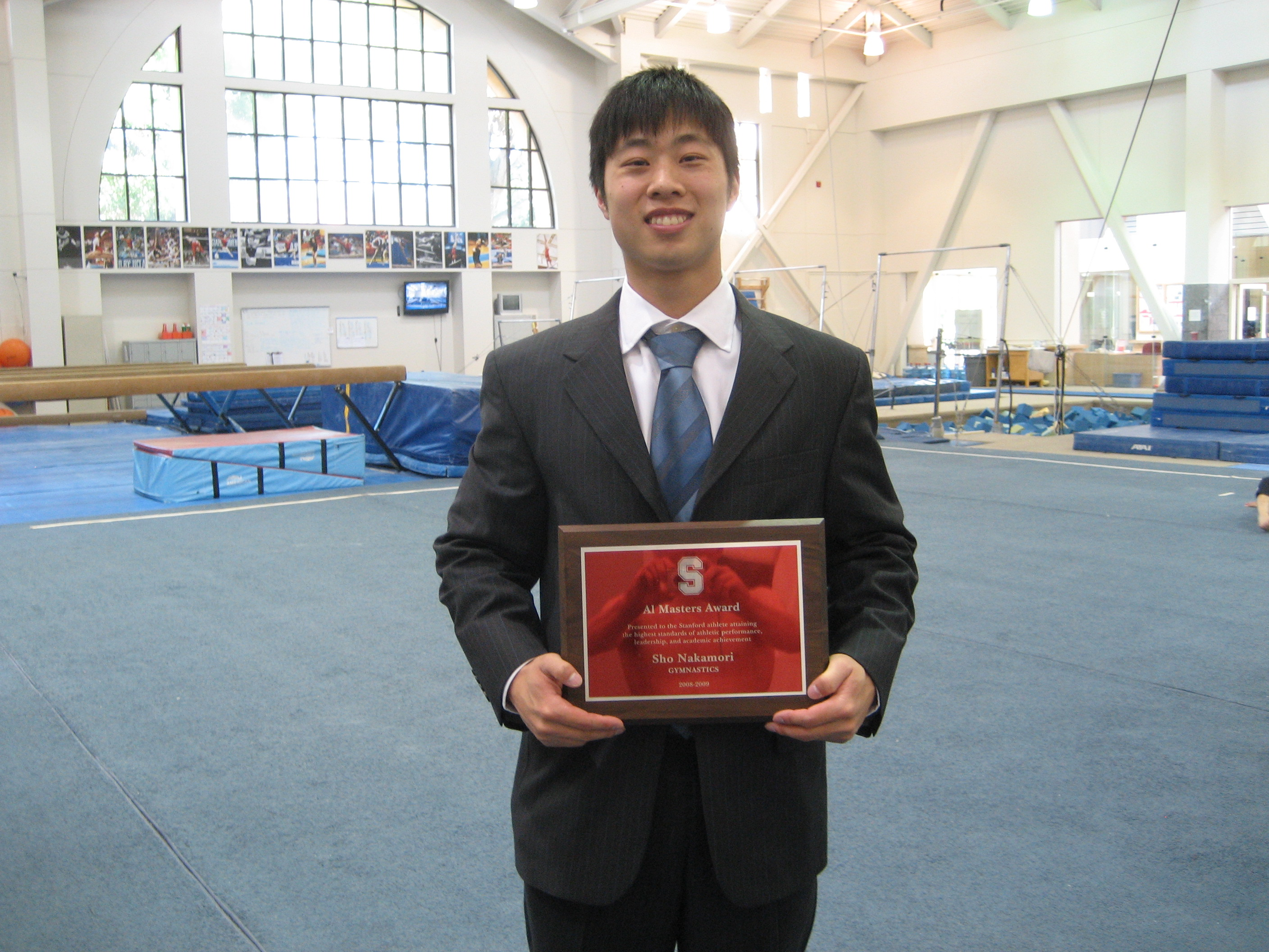 me with the award