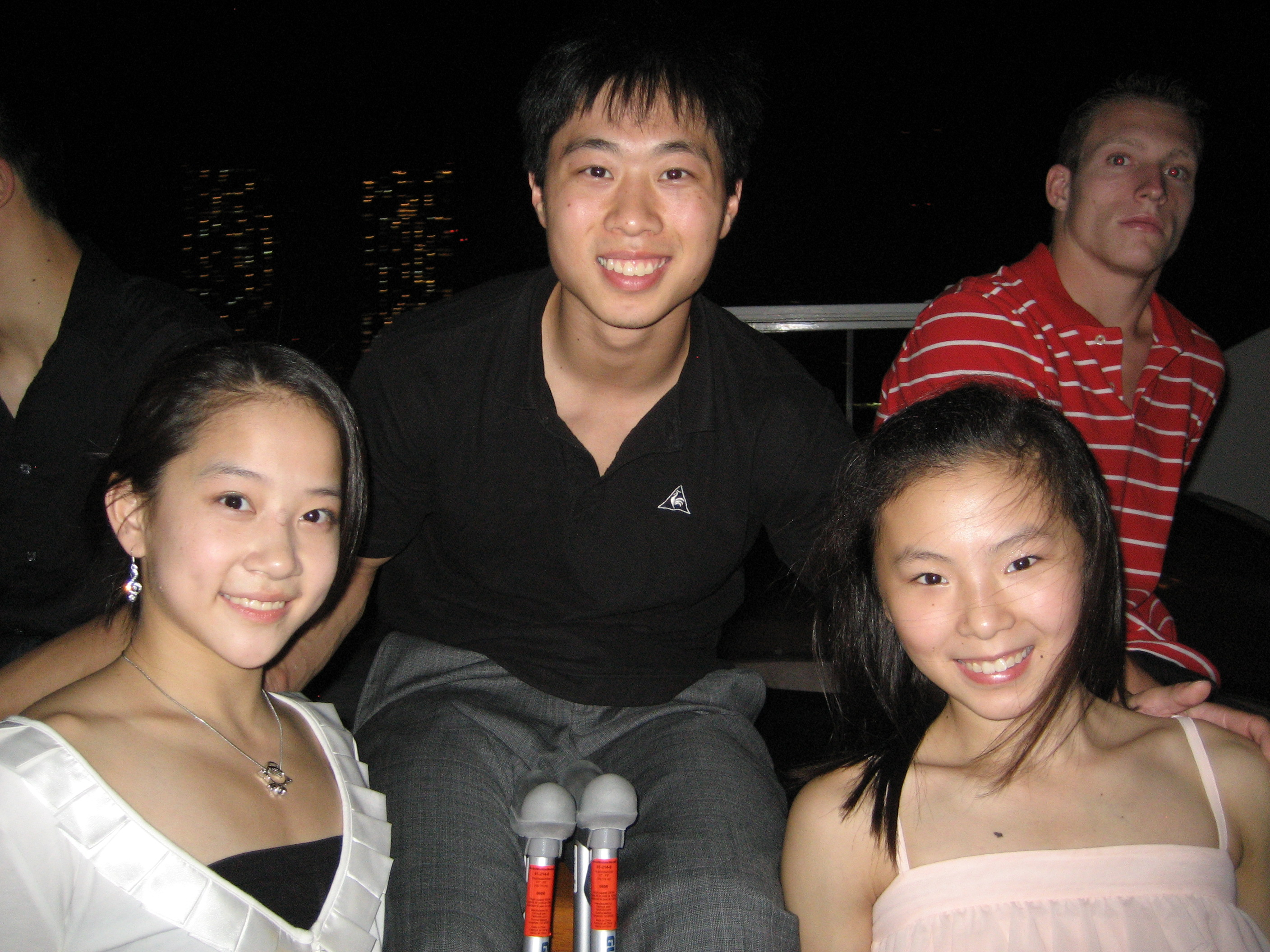 R - Zhang Jing, C - Me, R - He Kexin (Olympic Gold medalist)