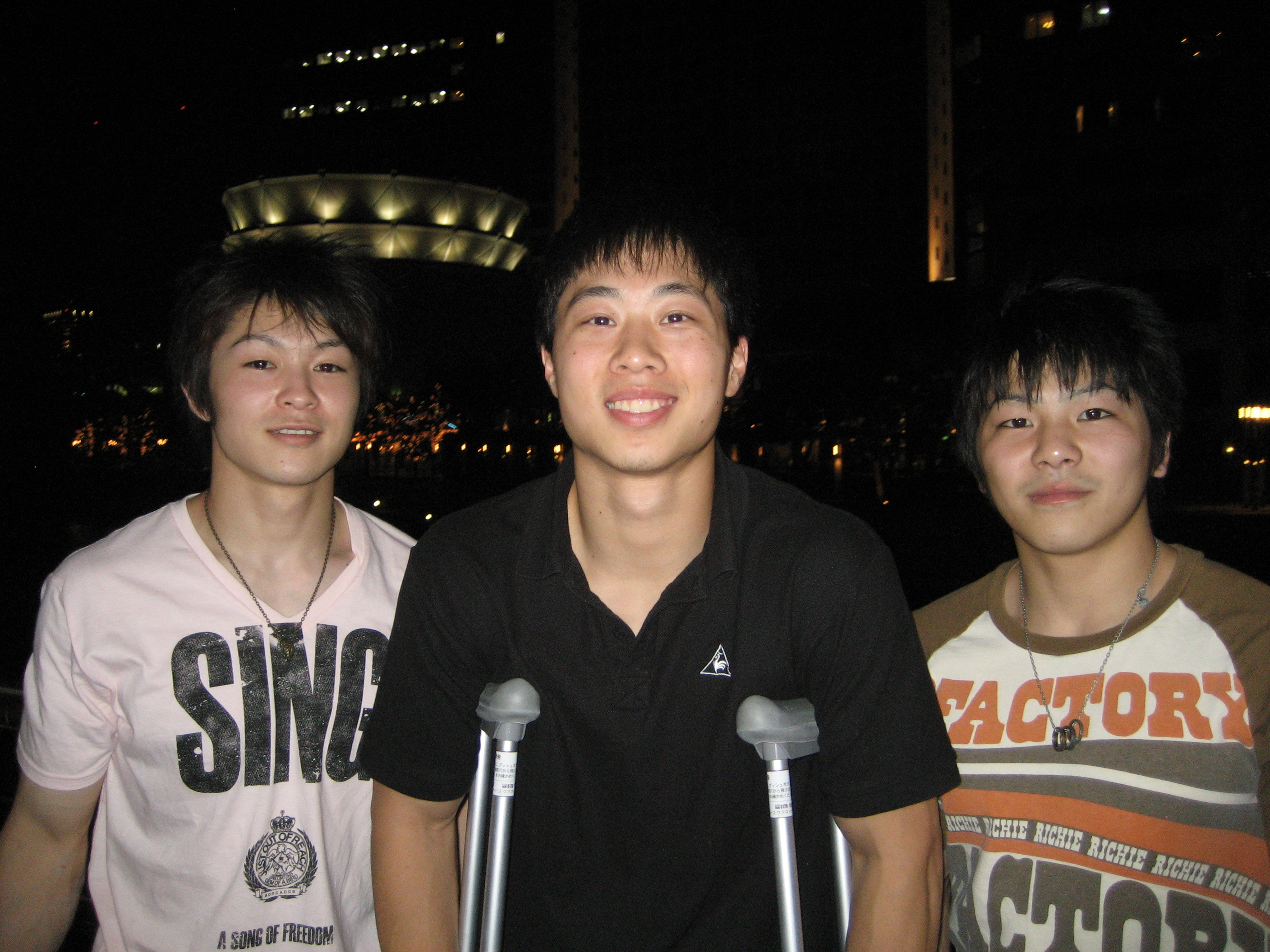 Left - Kohei Uchimura (Olympic silver medalist), Center - Me, Right - Koji Yamamuro