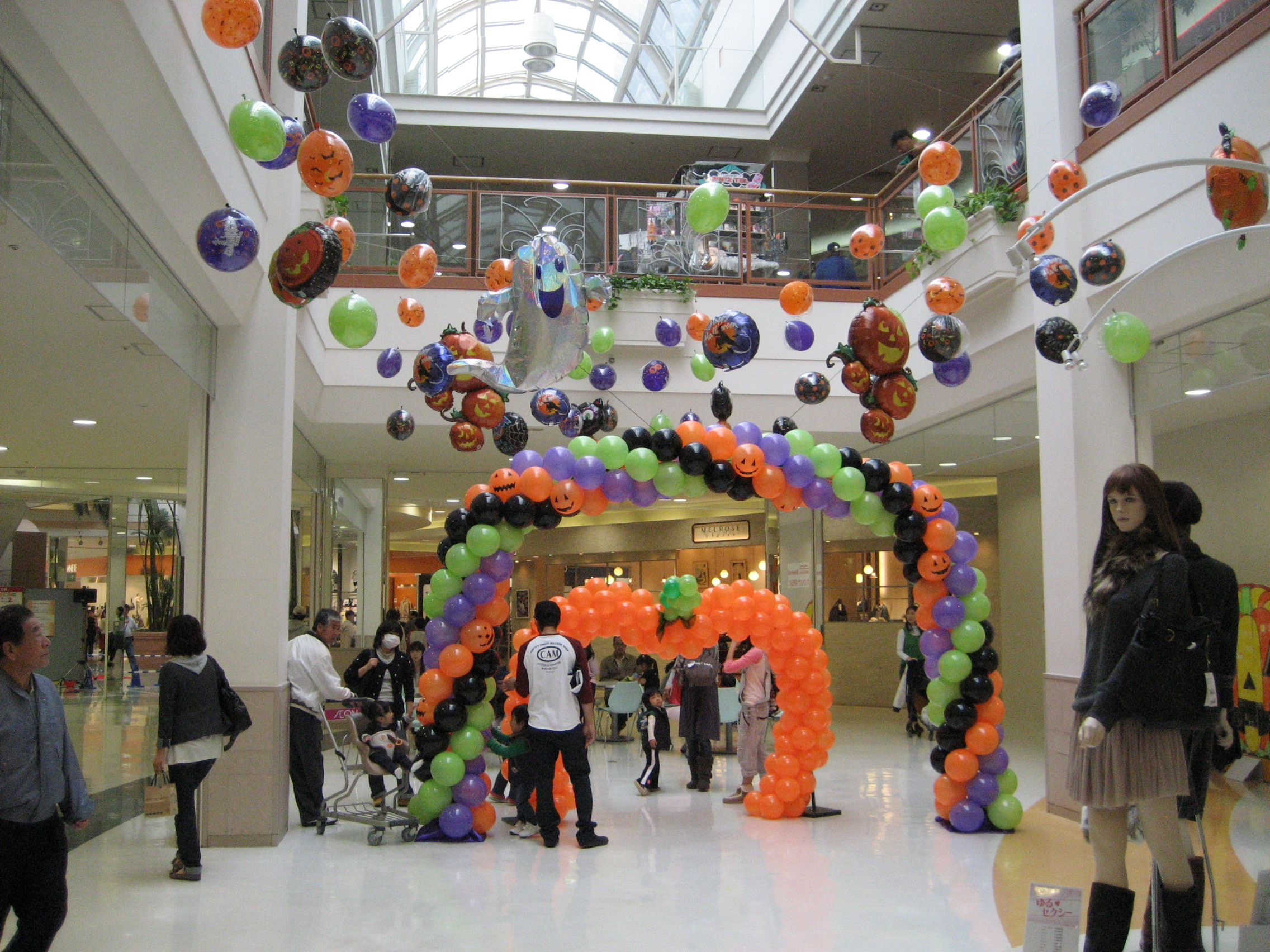 Hallowee decoration at the mall